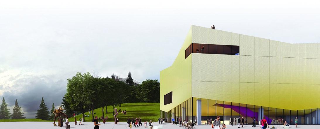 """Конкурсен проект за експозиционен център във Велико Търново. В екип с архитектите от """"Ателие 3"""", 2018г."""