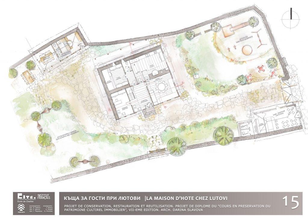 Реставрационен проект Лютовата къща към Екол де Шайо 2