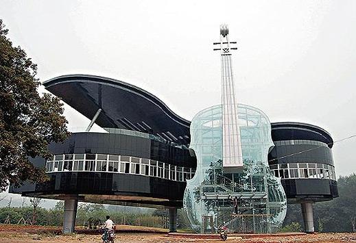 Сграда-с-форма-на-пиано-Huainan-Китай