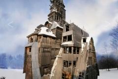 Дървената-жилищна-кула-Арханделс-Русия