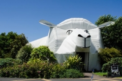 Сграда-овца-Tirau-Waikato-Нова-Зеландия