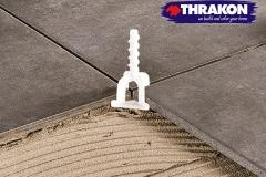 Tile-adhesive-distance