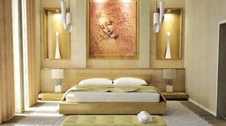 Декорацията за стена също трябва да носи положителен заряд