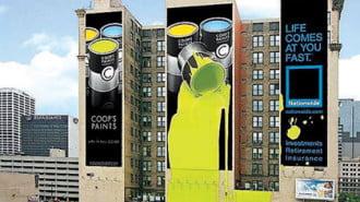 Рекламата върху сгради – най-креативна и с най-внушителни размери