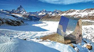 Соларна хижа в Алпите приютява 125 гости