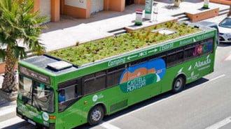 Градина на покрива на автобус промотират в Испания