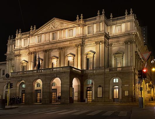 """Оперният театър """"Ла Скала"""" в Милано, Италия, арх. Джузепе Пиермарини"""