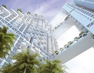 Sky Habitat – комплексът с въздушни улици и плаващи градини