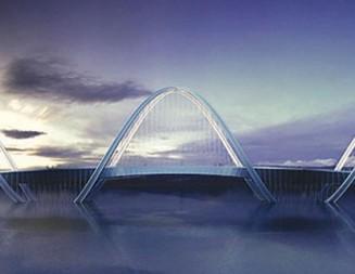 ДНК спирала обвива Олимпийския мост в Китай