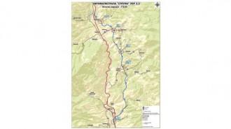 В посока Гърция трасето ще преминава по съществуващия път I-1 (Е-79), през Кресненското дефиле, а участъкът за София ще бъде по нов терен, на изток от дефилето