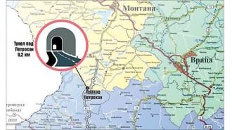 """Пет варианта за тунел под """"Петрохан"""" за разработвани през годините, като дължините са от 3 до над 9 км"""