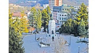 """Малкият парк при паметника """"Майка България"""" във Велико Търново"""