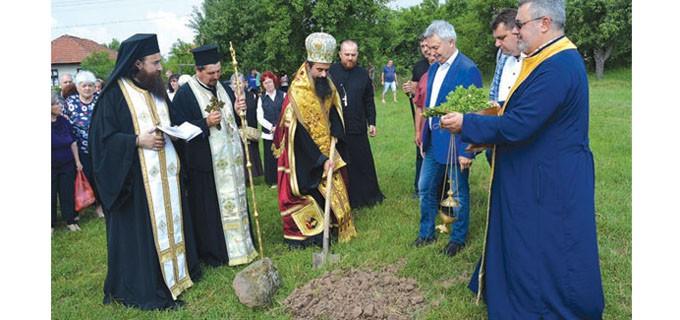 Видинският митрополит Даниил освети мястото за изграждане на новия храм