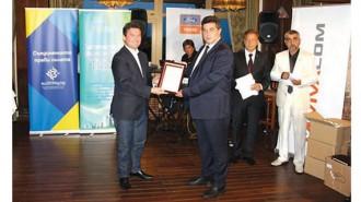 Областният управител на Русе Галин Григоров получи почетна грамота и плакет лично от председателя на УС на АБГР Найден Зеленогорски