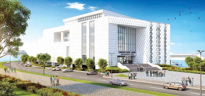 Така ще изглежда сградата на конгресния научноизследователски център за контрол и изследване на Черно море, който ще е разположен в северната част на източния вълнолом на Пристанище Бургас