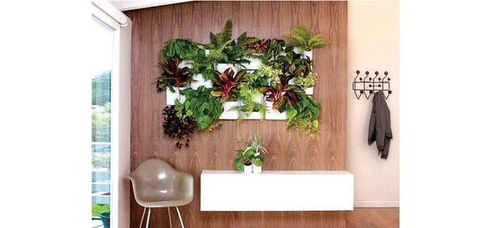 """Има вариант и за уникална градина на стената - кашпите са """"вградени"""" върху плоскостите на старо портманто."""
